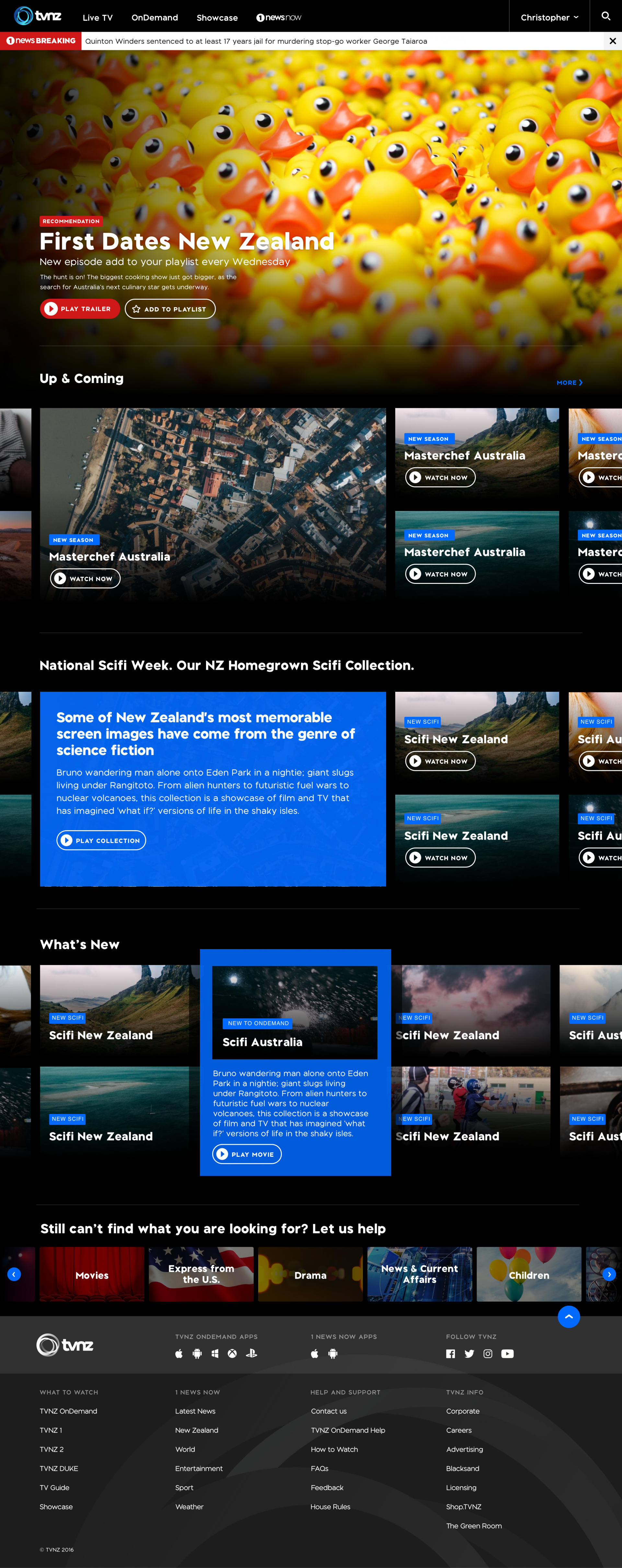 TVNZ OnDemand Redesign What to Watch